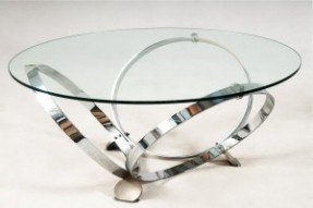 Round Glass Coffee Table Metal Base Glass Top Metal Frame Coffee Tables Glass Top Coffee Table With Metal Base (Image 2 of 10)