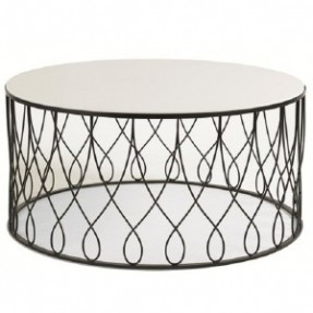 round-glass-coffee-table-metal-base-round-metal-and-glass-coffee-table-round-black-metal-coffee-table (Image 4 of 10)