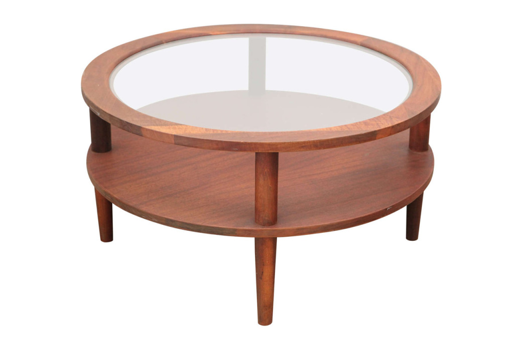 Round Glass Coffee Table Round Glass Top Coffee Tables Vintage Round Glass Topped Coffee Table Kimba Hills Popular Ideas (View 7 of 10)