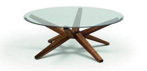 Round Glass Coffee Table Round Wood Glass Coffee Table Round Coffee Table Top Glass Espresso Wood Furniture Decor (View 3 of 10)