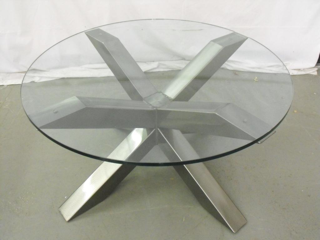 Round Glass Top Coffee Table Silver Metal And Round Glass Coffee Table Ideas Glass Coffee Tables And End Tables (View 9 of 10)