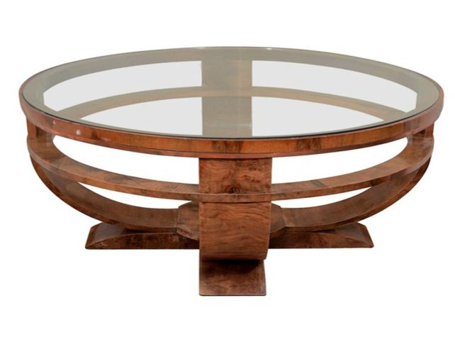 Round Glass Top Coffee Tables Elegant Round Glass Top Coffee Table With Wood Base Round Coffee Table Base (Image 7 of 10)