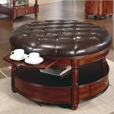 Round Leather Ottoman Coffee Table As Glass Coffee Table On Installing Coffee Table The Amazing Coffee Table (View 6 of 10)
