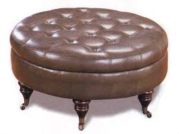 Round Leather Ottoman Coffee Table As Square Coffee Table On Painting Table Your Easy Coffee Table (Image 8 of 10)