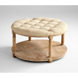 round-linen-tufted-coffee-table-ottoman-round-coffee-table-round-fabric-coffee-table-small-round-fabric-ottoman-coffee-table (Image 7 of 10)