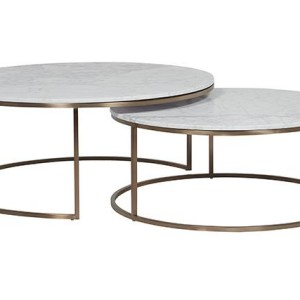 Round Marble Coffee Table Elle Nest