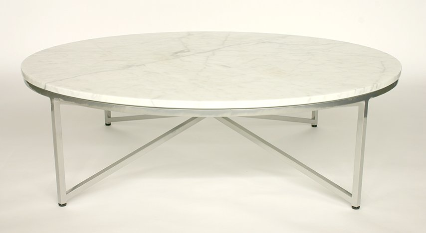 round-marble-coffee-table-with-chrome-round-marble-coffee-table-white-marble-coffee-table-round-marble-top-end-table (Image 8 of 10)