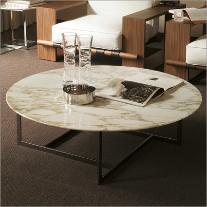 Round Marble Coffee Tables Marble Top Coffee Table Porada Londra Round Marble Coffee Table Stone Round Coffee Table (Image 7 of 10)