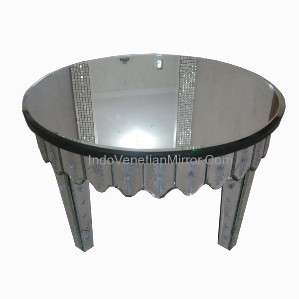 Round Mirror Coffee Table Mirrored Furniture Round Coffee Table Venetian Glass Mirror Mirrored Round Coffee Table (Image 9 of 10)