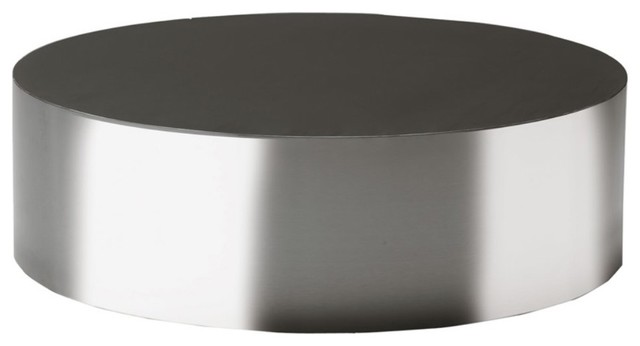 Round Modern Coffee Table Round Black Silver Simple Chrome Stainless Steel Coffee Table Round Contemporary Coffee Tables (Image 10 of 10)