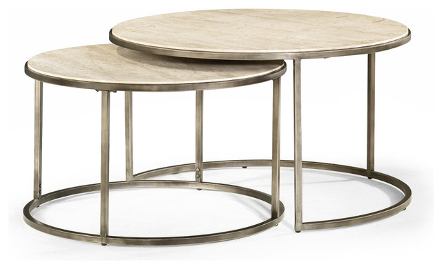Round Nesting Coffee Tables Modern Basics By Hammary Modern Coffee Tables Nesting Coffee Table Round (Image 10 of 10)