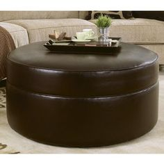 2018 Latest Round Leather Coffee Table Ottoman With Storage & Leather Round Ottoman Coffee Table | Home design ideas