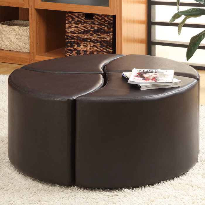Round Ottoman Table Gallery Round End Table Round Leather Ottoman Coffee Table Modern Round Shoe Ottoman (View 8 of 10)