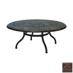 Round Patio Coffee Table Shop Darlee Series 60 Aluminum Round Patio Coffee Table Patio Coffee Tables On Sale (View 7 of 10)