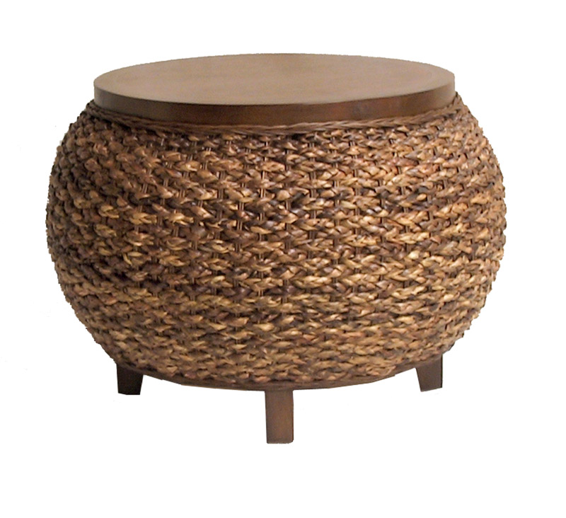 Round Seagrass Coffee Table Seagrass Coffee Table With Storage Seagrass Cocktail Table Woven Round Coffee Table (Image 6 of 10)