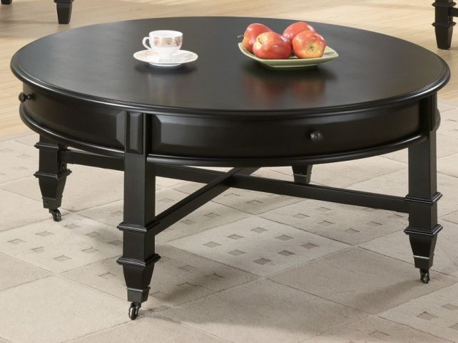 Round Side Table With Drawer Round Coffee Table