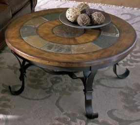 round-slate-coffee-table-riverside-furniture-riverside-stone-forge-round-coffee-table-40inch-round-slate-coffee-table (Image 6 of 9)
