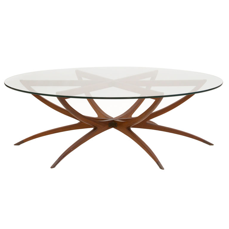 Round Gl And Wood Coffee Table Drinker