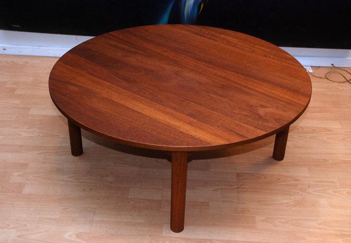 Round Teak Coffee Table Danish Modern Teak Round Coffee Table Teak Patio Coffee Table Interior Teak Wood Coffee Table Furniture (View 6 of 10)