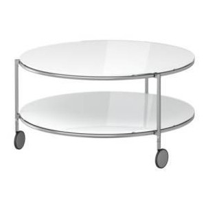 Round White Glass Coffee Table Round White Coffee Table Cheap White Coffee Tables Beach Coffee Tables In White (Image 7 of 10)