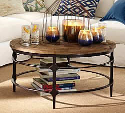 Round Wooden Coffee Table And Small Coffee Tables Parquet Reclaimed Wood Round Coffee Table Contemporary Round Coffee Table Brings Classic Style (Image 7 of 10)