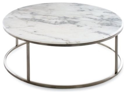 Rubik Round Coffee Table Design Within Reach Contemporary Coffee Tables White Grey Ceramic Round Metal Coffee Tables (Image 8 of 10)