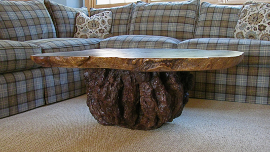 Rustic Burl Coffee Table Medium Custom Rustic Furniture From Cutting Tree Images Ideas For Furniture (Image 4 of 9)