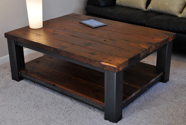 rustic-coffee-table-with-rustic-refinery-rustic-coffee-tables-other-metro-Rustic-Coffee-Table (Image 6 of 9)