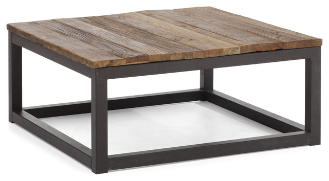 rustic-coffee-tables-Civic-Center-Square-Coffee-Table-Distressed-Natural-rustic-coffee-tables (Image 5 of 10)
