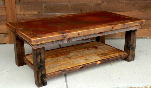 Rustic Coffee Tables Large Rustic Coffee Table Square Shape Wood Furnish Image Ideas 2016 (Image 8 of 10)