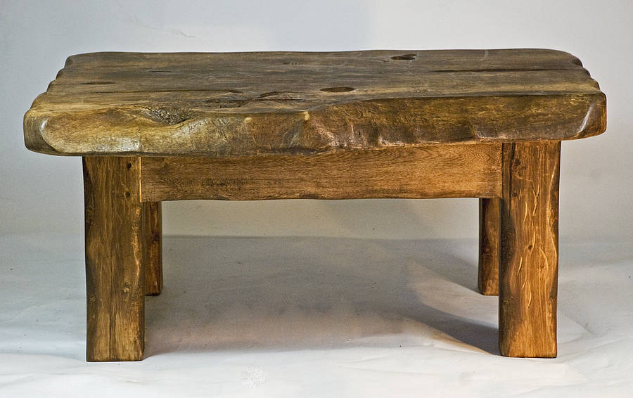Rustic Handmade Small Wooden Coffee Table Free Download Images Gallery (Image 9 of 10)