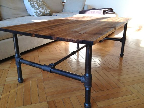 Rustic Industrial Coffee Table Rustic Industrial Coffee Table Rustic Industrial Coffee Table (View 8 of 10)