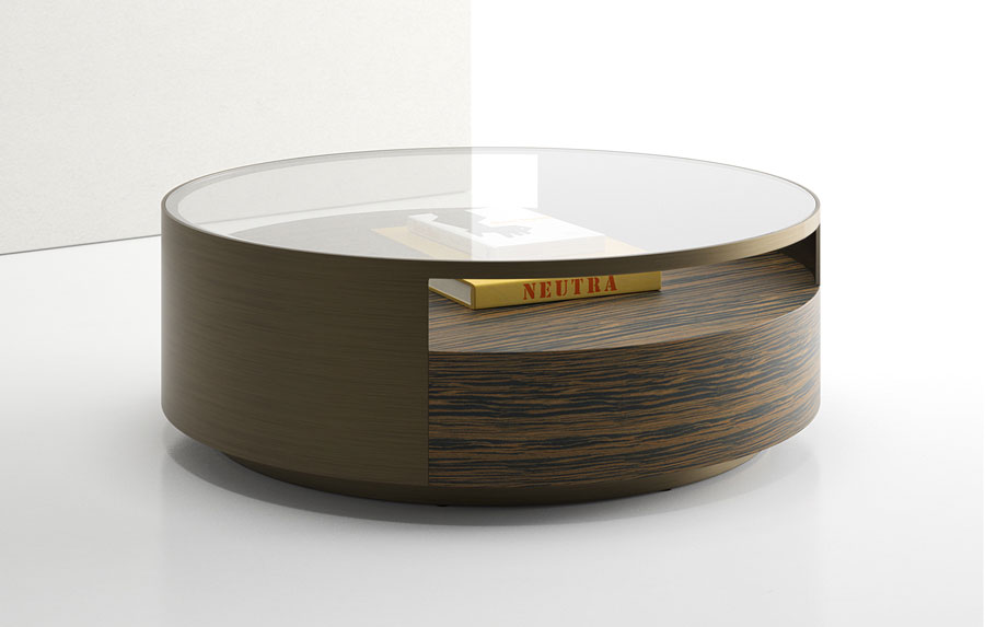 rustic-round-coffee-table-decorating-ideas-minimalist-round-laminated-and-stained-wooden-with-top-glass-coffee-table-modern-round-coffee-table-with-storage (Image 9 of 10)