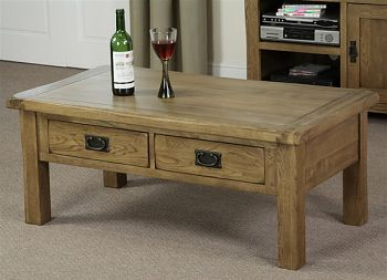 Rustic Solid Oak Coffee Table Large With Red Wide At Above Images Free Download Ideas (Image 10 of 10)