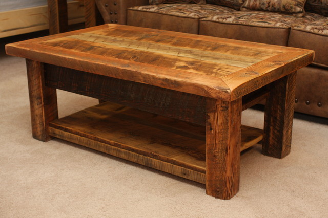 Rustic Square Coffee Table Plans With Sofas On Behind Of Coffee Table (Image 7 of 10)