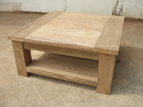 rustic-square-coffee-tables-Square-Rustic-Coffee-Table-natural-color-square-tables-on-garden (Image 6 of 10)