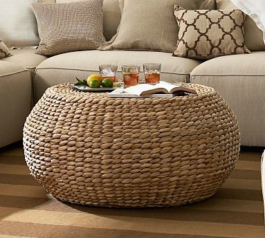 Seagrass Coffee Table Round Round Woven Seagrass Coffee Table Traditional Coffee Tables Round Seagrass Coffee Table Ottomans (Image 6 of 10)