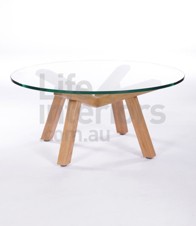 sean-dix-antonello-round-coffee-table-90-and-120cm-coffee-table-collection-small-round-glass-with-wooden-4-legs-coffee-table-round-glass-coffee-table-wood-base (Image 10 of 10)