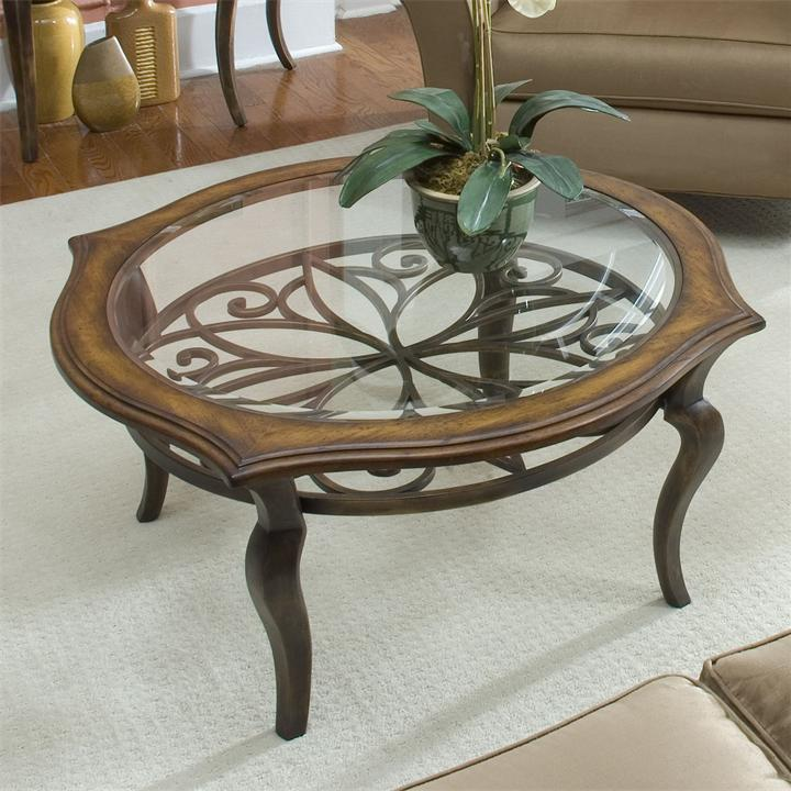 Serena Collection Round Coffee Table Round Glass Coffee Table Metal Base Metal Round Glass Coffee Tables (Image 8 of 10)