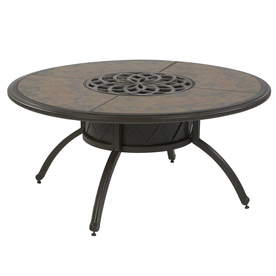 Shop Garden Treasures Willow Pass 42inch Tile Top Aluminum Frame Round Patio Coffee Table Round Patio Coffee Table (View 9 of 10)