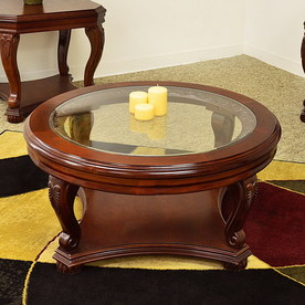shop-royal-manufacturing-cherry-round-coffee-table-cherry-round-coffee-table-cherry-coffee-table (Image 6 of 10)