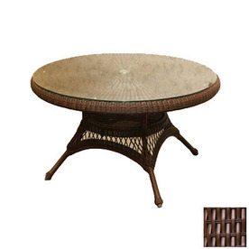 Shop Tortuga Outdoor Lexington Glass Round Patio Coffee Table Round Patio Coffee Table Target Patio Coffee Tables (View 10 of 10)