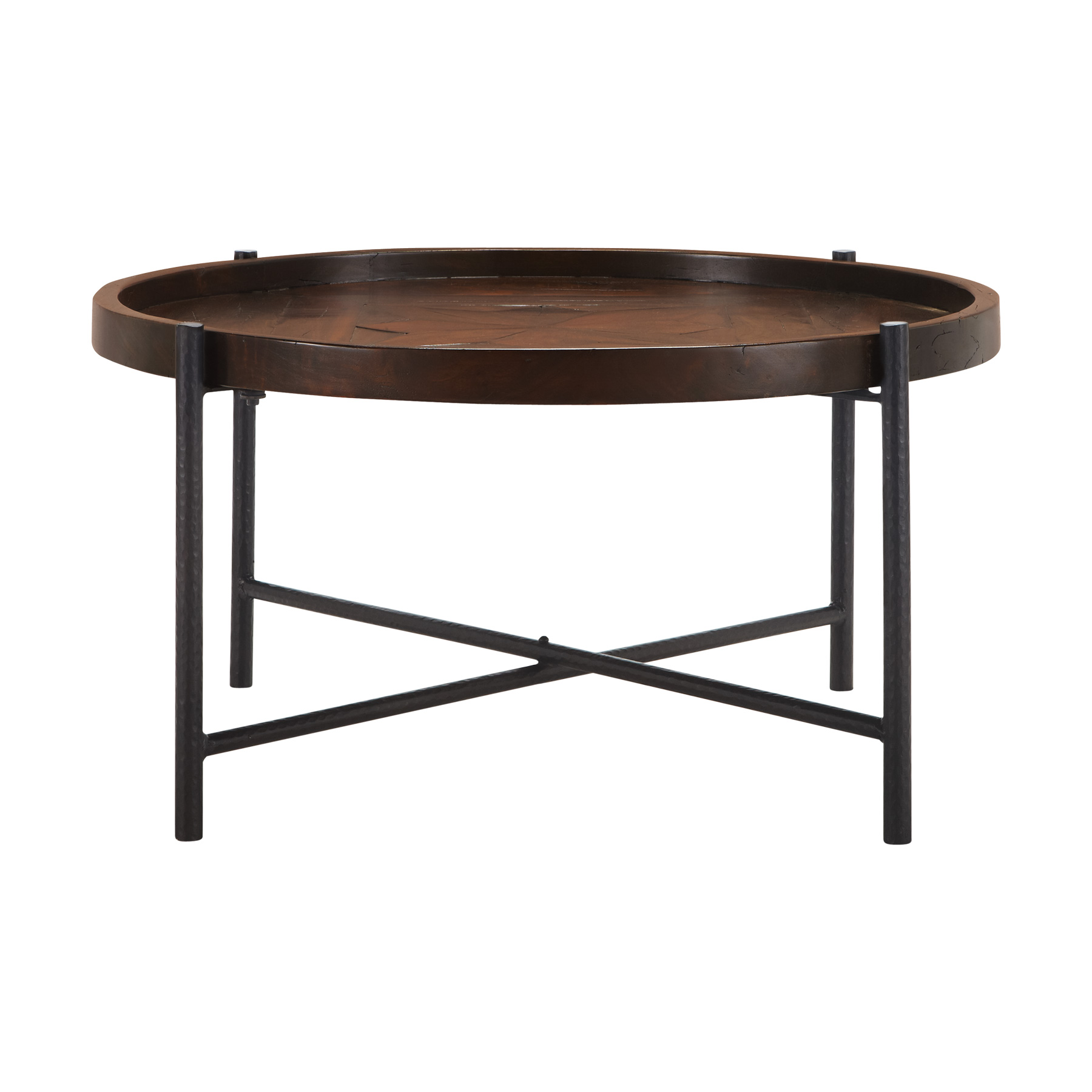 Simple Palencia 34 Inch Round Coffee Table With Iron Base Design 40 Round Coffee Table Unique Trunk Coffee Table (View 10 of 10)