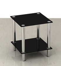 Small Black Glass Coffee Table Black Or Clear