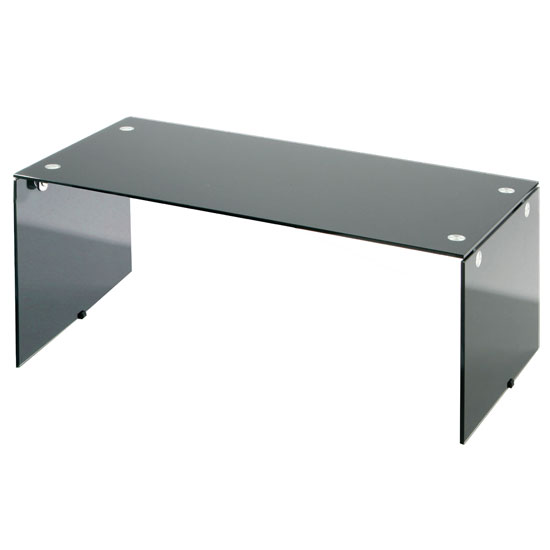 small-black-glass-coffee-table-elena-oval-black-border-glass-coffee-table-with-undershelf-with-simple-design (Image 3 of 10)
