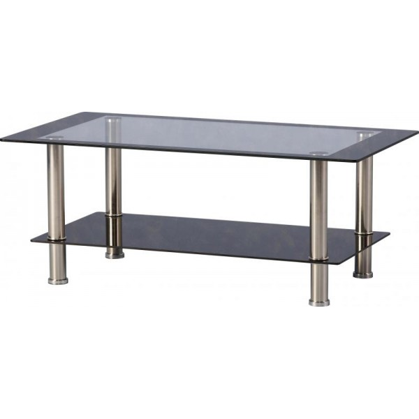 Small Black Glass Coffee Table Seconique Harlequin Black