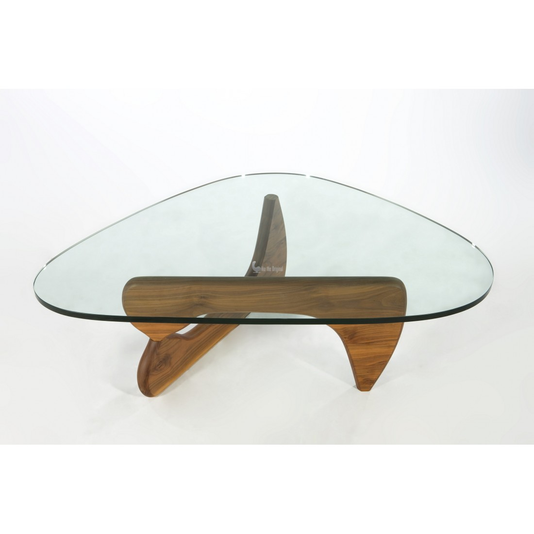 Small Glass Coffee Table Modern Isamu Noguchi Style Modern Wooden Coffee Table With Glass Top (View 5 of 10)