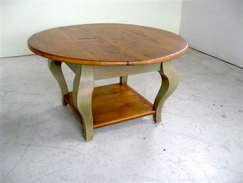Small Round Coffee Table With Shelf Farmhouse Coffee Tables Small Round Coffee Tables Circular Coffee Tables (Image 7 of 10)