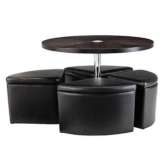 small-round-ottoman-coffee-table-sedona-round-ottoman-coffee-table-set-with-4-ottoman-seats-along-with-round-table-top-along-with-chrome-leg (Image 8 of 10)
