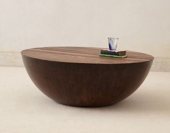 solid-round-wood-and-glass-coffee-table-round-wood-and-glass-coffee-table-minimalist-pure-wood-round-coffee-table-design (Image 10 of 10)